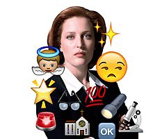Scully emoji collage Photographic Print