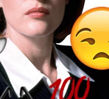 Scully emoji collage Sticker