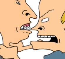 Beavis & Butthead Fighting Sticker