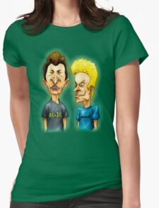 Beavis & Butthead Art Womens Fitted T-Shirt