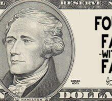10 dollar Founding Father  Sticker