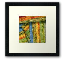 Knitted Stripes Framed Print