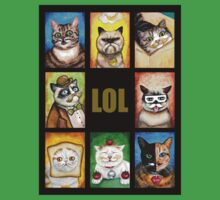 LOL Cats with Moustaches T-Shirt