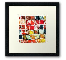 Falling Blocks Framed Print