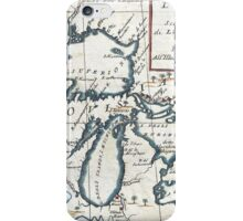 Vintage Map of The Great Lakes (1696)  iPhone Case/Skin