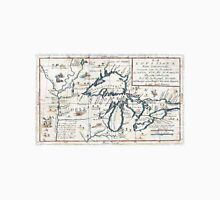 Vintage Map of The Great Lakes (1696)  Unisex T-Shirt