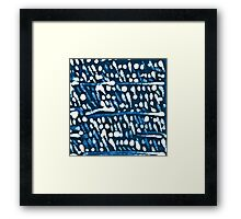 Batik Snow Framed Print