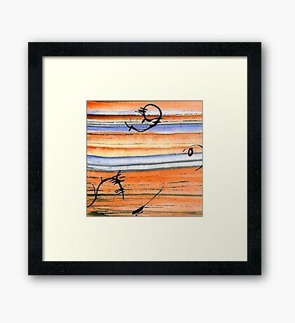 Sea Dance Framed Print