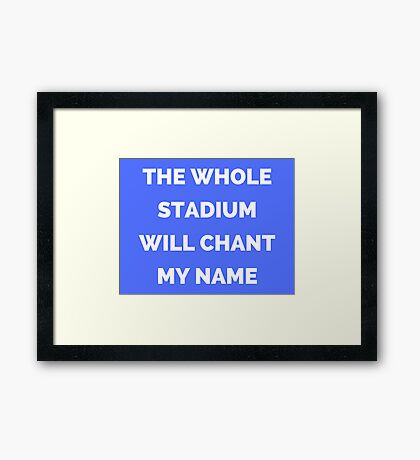 The Whole Stadium Blue Framed Print