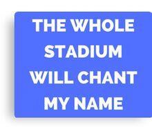 The Whole Stadium Blue Canvas Print