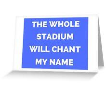 The Whole Stadium Blue Greeting Card