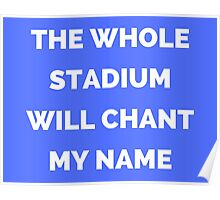 The Whole Stadium Blue Poster