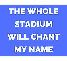 The Whole Stadium Blue Photographic Print
