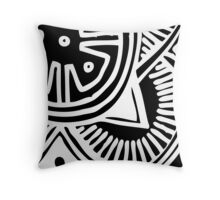 Abstract African Print Throw Pillow