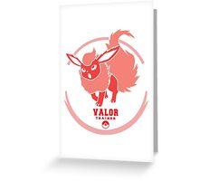 Team Valor Trainer Greeting Card