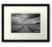 Black and White Wales Framed Print