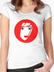 Japan / Japanese Geisha Women's Fitted Scoop T-Shirt