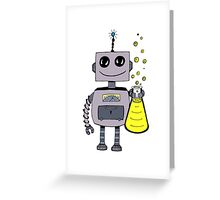 Cute Happy Robot  Greeting Card