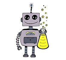 Cute Happy Robot  Photographic Print