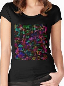Colorful spots Women's Fitted Scoop T-Shirt