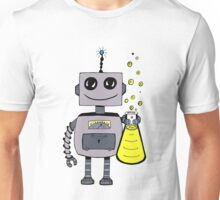 Cute Happy Robot  Unisex T-Shirt