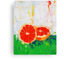 Like Shoving a Grapefruit in Your Face Canvas Print