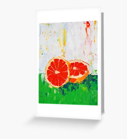Like Shoving a Grapefruit in Your Face Greeting Card