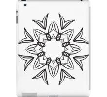 Abstract black ornament iPad Case/Skin