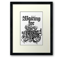 Waiting for the wizard Framed Print