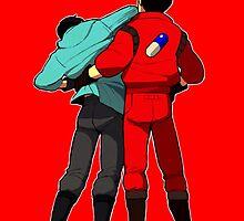 AKIRA - Kaneda and Tetsuo 'F**K OFF!' IPHONE ED. by cobaltcannon