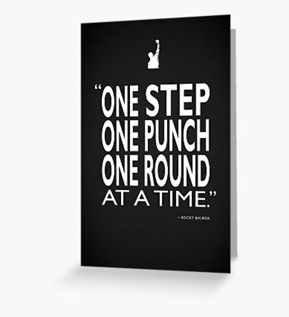One Step One Punch One Round Greeting Card