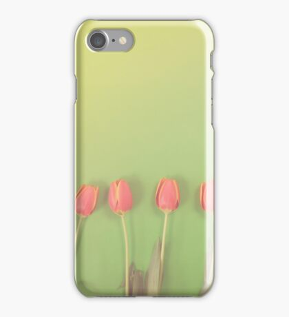 Tulips on Green iPhone Case/Skin