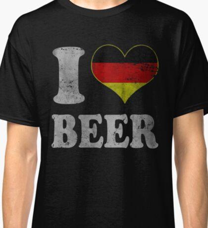 Vintage I Heart German Beer Oktoberfest Classic T-Shirt
