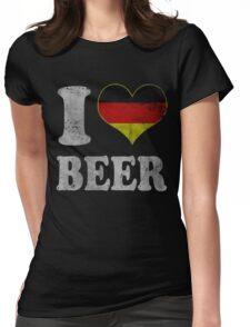 Vintage I Heart German Beer Oktoberfest Womens Fitted T-Shirt