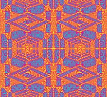 INFRARED KALEIDOSCOPIC GEOMETRIC DESIGN by Seacookie1