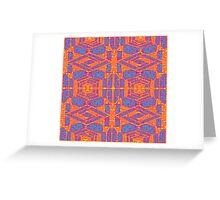 INFRARED KALEIDOSCOPIC GEOMETRIC DESIGN Greeting Card