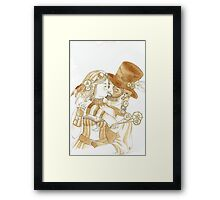 Steam Punk Couple Framed Print