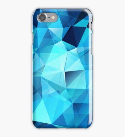 Blue polygonal design  iPhone Case/Skin