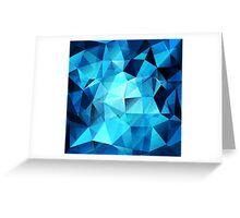 Blue polygonal design  Greeting Card