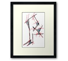 Red&blue Framed Print