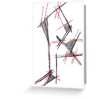 Red&blue Greeting Card