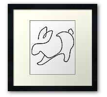 Linear rabbit Framed Print