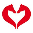 I love horse riding, heart with horse heads by beakraus