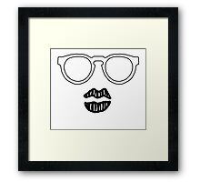 Illesteva Sun Glasses with Lips Framed Print