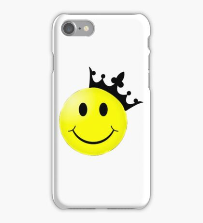 Smiley Face with Crown  iPhone Case/Skin