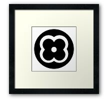 Graphic Flower Framed Print