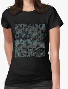 Blue town Womens Fitted T-Shirt