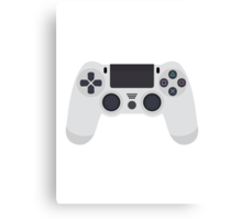 This Is For The Players - PS4 Controller White Canvas Print