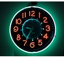 Retro Clock Photographic Print