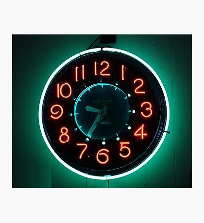 Retro Clock Photographic Print